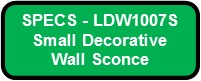 CUBICKL SMALL LED SPECS LDW1007S