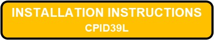 CDIP39L INTEGRALUME LED Installation Instructions Button