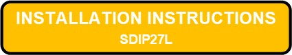 SDIP27L INTEGRALUME LED Instruction Installation Button