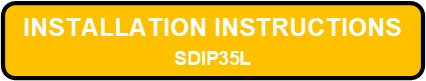 SDIP35L INTEGRALUME LED Installation Instructions Button