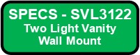 SVL3122 SHEILA Vanity Wall Sconce Button